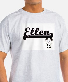 Ellen Classic Retro Name Design with Panda T-Shirt