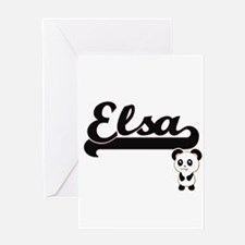 Elsa Classic Retro Name Design with Greeting Cards