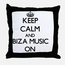 Keep Calm and Ibiza Music ON Throw Pillow