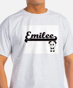 Emilee Classic Retro Name Design with Pand T-Shirt