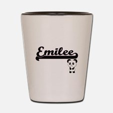 Emilee Classic Retro Name Design with P Shot Glass