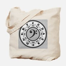 Bass Clef Circle of Fifths Tote Bag