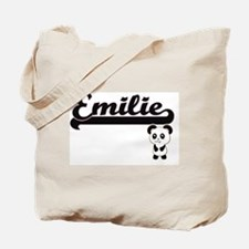 Emilie Classic Retro Name Design with Pan Tote Bag