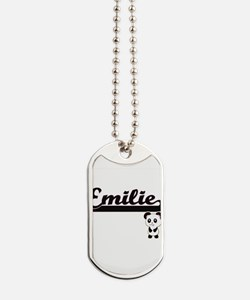 Emilie Classic Retro Name Design with Pan Dog Tags