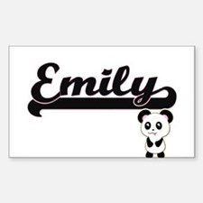 Emily Classic Retro Name Design with Panda Decal