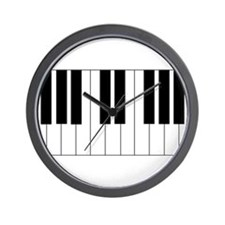 Piano Keyboard Wall Clock