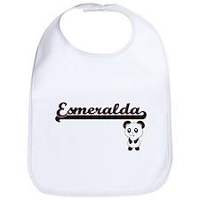 Esmeralda Classic Retro Name Design with Panda Bib