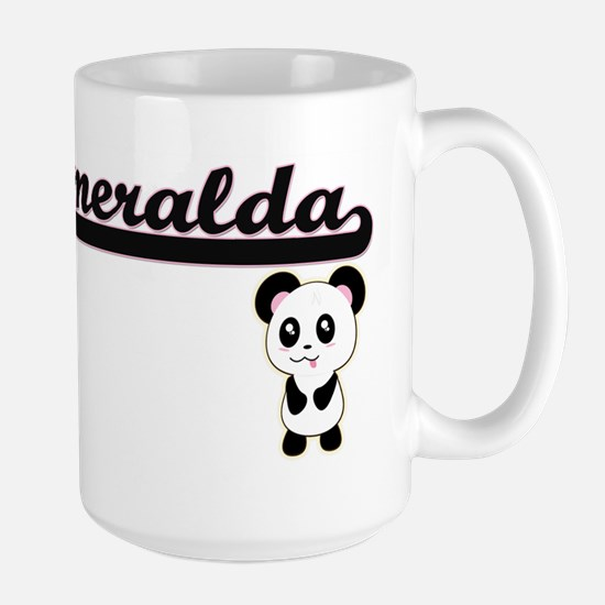 Esmeralda Classic Retro Name Design with Pand Mugs