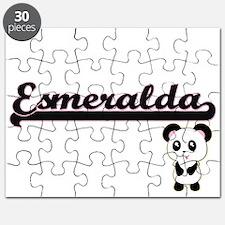 Esmeralda Classic Retro Name Design with Pa Puzzle