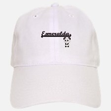Esmeralda Classic Retro Name Design with Panda Baseball Baseball Cap