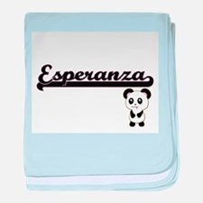 Esperanza Classic Retro Name Design w baby blanket