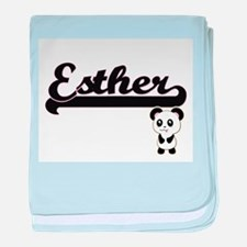 Esther Classic Retro Name Design with baby blanket