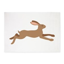 Leaping Rabbit 5'x7'Area Rug