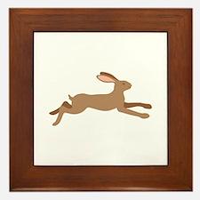Leaping Rabbit Framed Tile