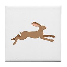 Leaping Rabbit Tile Coaster