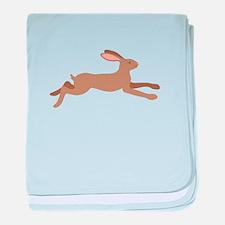 Leaping Rabbit baby blanket