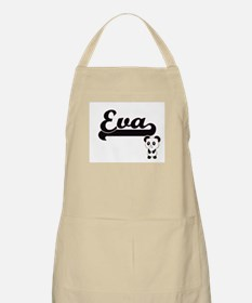Eva Classic Retro Name Design with Panda Apron
