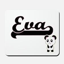 Eva Classic Retro Name Design with Panda Mousepad