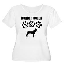 Border Collie Mom Plus Size T-Shirt