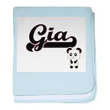 Gia Classic Retro Name Design with Pa baby blanket