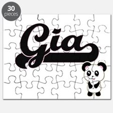 Gia Classic Retro Name Design with Panda Puzzle