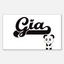 Gia Classic Retro Name Design with Panda Decal