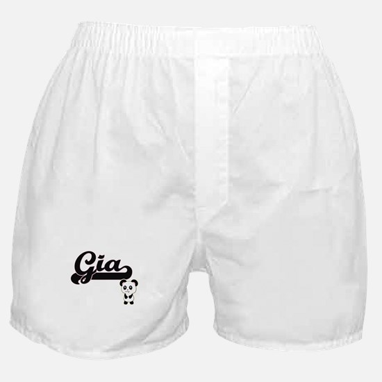 Gia Classic Retro Name Design with Pa Boxer Shorts