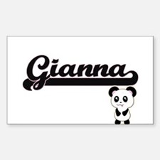 Gianna Classic Retro Name Design with Pand Decal