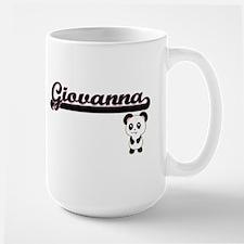 Giovanna Classic Retro Name Design with Panda Mugs