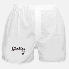 Giselle Classic Retro Name Design wit Boxer Shorts