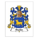 Duclos Family Crest Small Poster