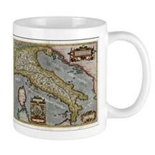Vintage Map of Italy (1584) Mugs