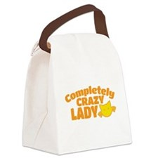 Completely crazy CAT LADY Canvas Lunch Bag