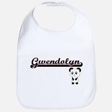 Gwendolyn Classic Retro Name Design with Panda Bib