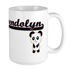 Gwendolyn Classic Retro Name Design with Pand Mugs