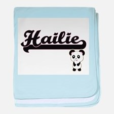 Hailie Classic Retro Name Design with baby blanket