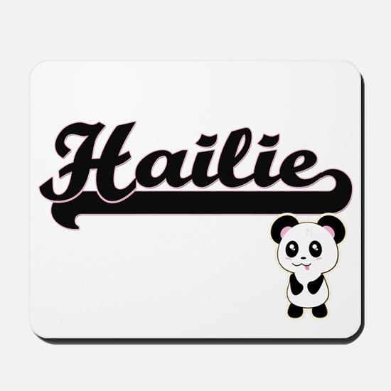 Hailie Classic Retro Name Design with Pa Mousepad