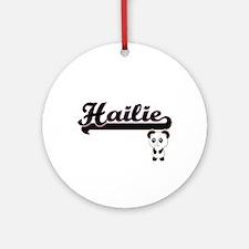 Hailie Classic Retro Name Design Ornament (Round)