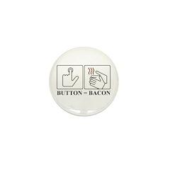 Button = Bacon Mini Button (100 pack)