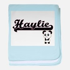 Haylie Classic Retro Name Design with baby blanket