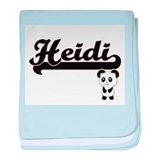 Heidi Classic Retro Name Design with baby blanket