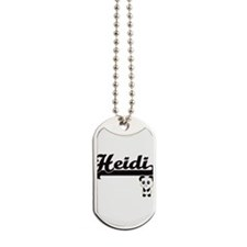 Heidi Classic Retro Name Design with Pand Dog Tags