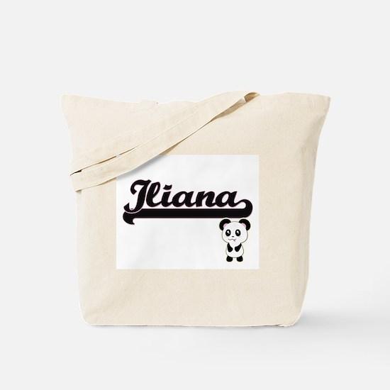 Iliana Classic Retro Name Design with Pan Tote Bag