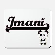 Imani Classic Retro Name Design with Pan Mousepad