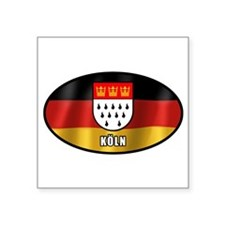"Cute Germany football Square Sticker 3"" x 3"""