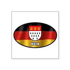 """Cute Germany oval Square Sticker 3"""" x 3"""""""