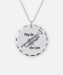 PLAY FOR THE LOVE TRUMPET Necklace Circle Charm