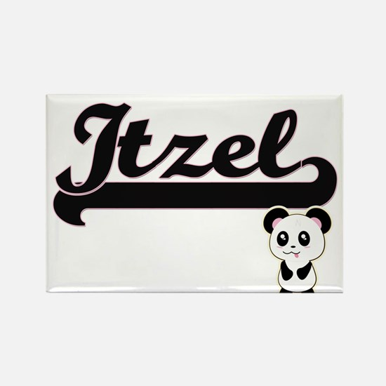 Itzel Classic Retro Name Design with Panda Magnets