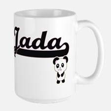 Jada Classic Retro Name Design with Panda Mugs