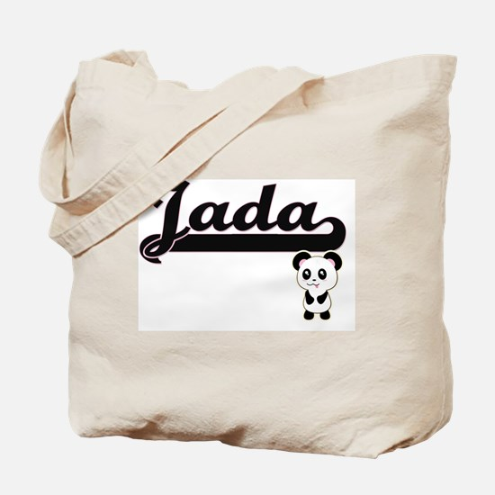 Jada Classic Retro Name Design with Panda Tote Bag
